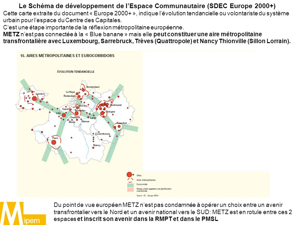 Le Schéma de développement de l'Espace Communautaire (SDEC Europe 2000+)