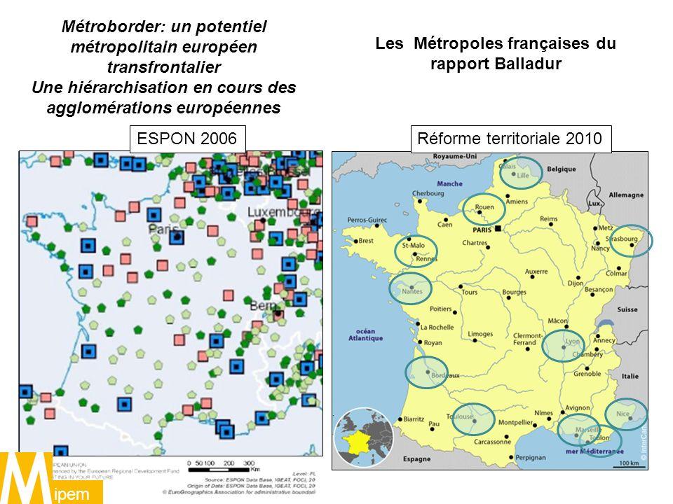 Métroborder: un potentiel métropolitain européen transfrontalier