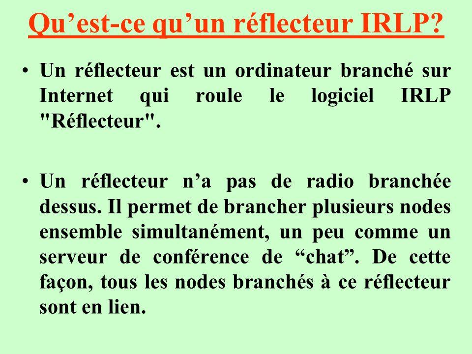 Qu'est-ce qu'un réflecteur IRLP