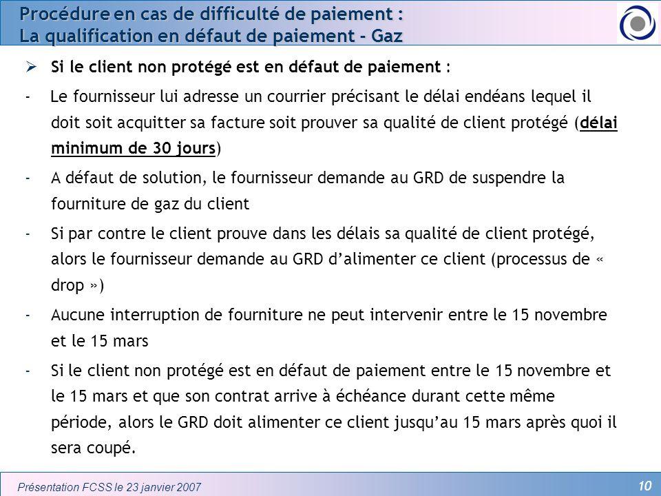 Procédure en cas de difficulté de paiement : La qualification en défaut de paiement - Gaz