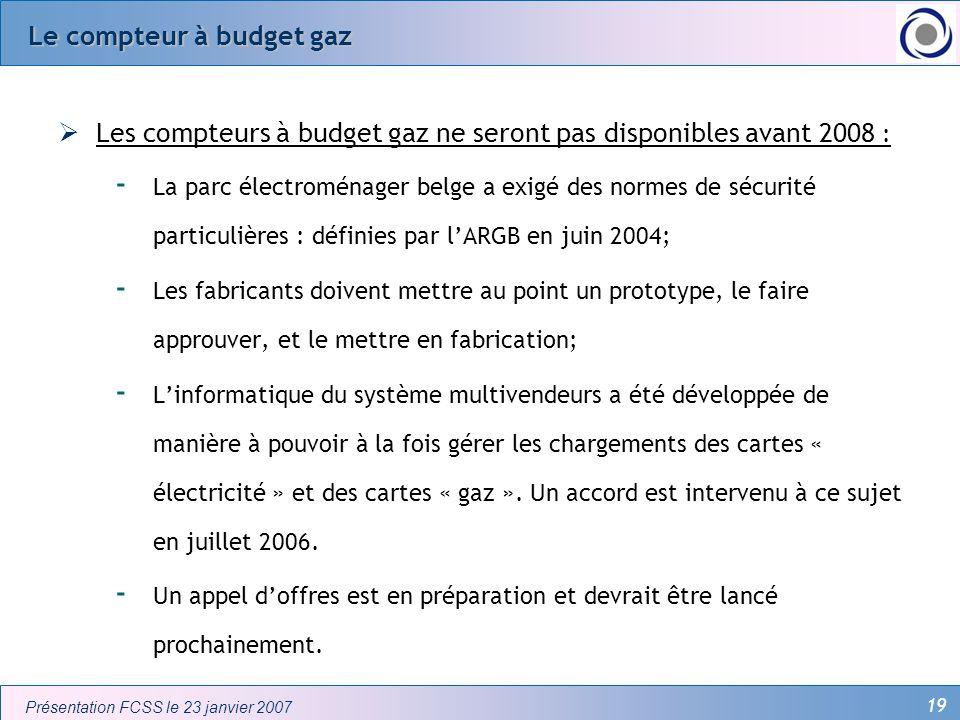 Le compteur à budget gaz