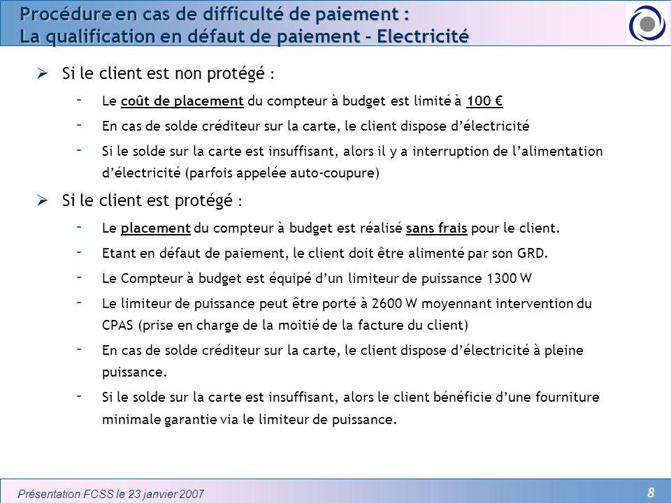 Procédure en cas de difficulté de paiement : La qualification en défaut de paiement - Electricité