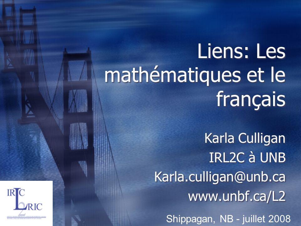 Liens: Les mathématiques et le français