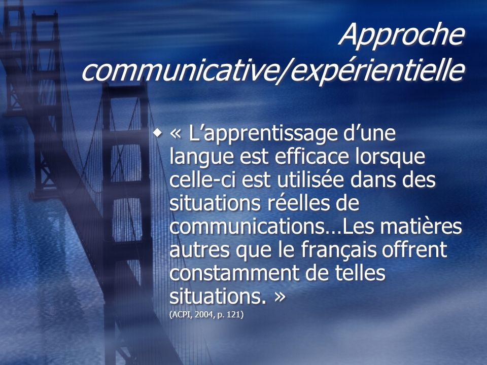 Approche communicative/expérientielle