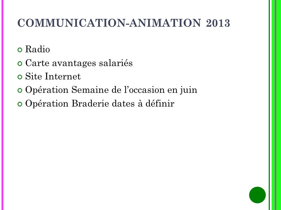 COMMUNICATION-ANIMATION 2013