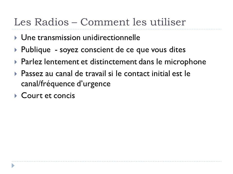 Les Radios – Comment les utiliser