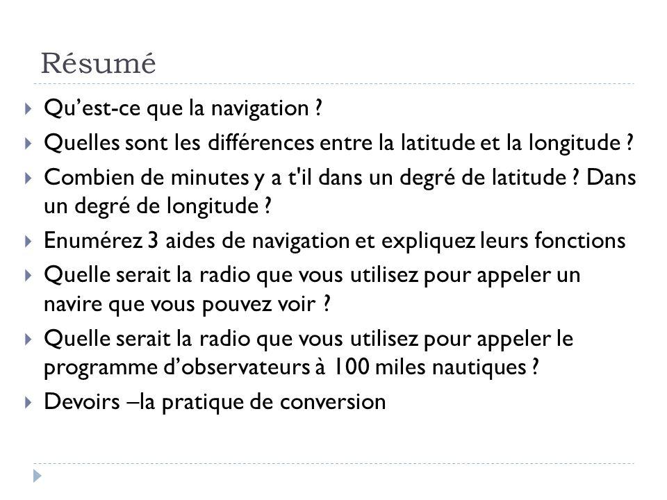 Résumé Qu'est-ce que la navigation