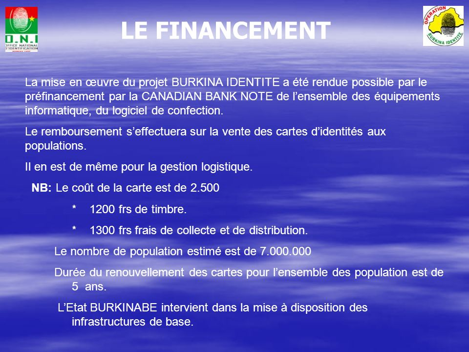 LE FINANCEMENT