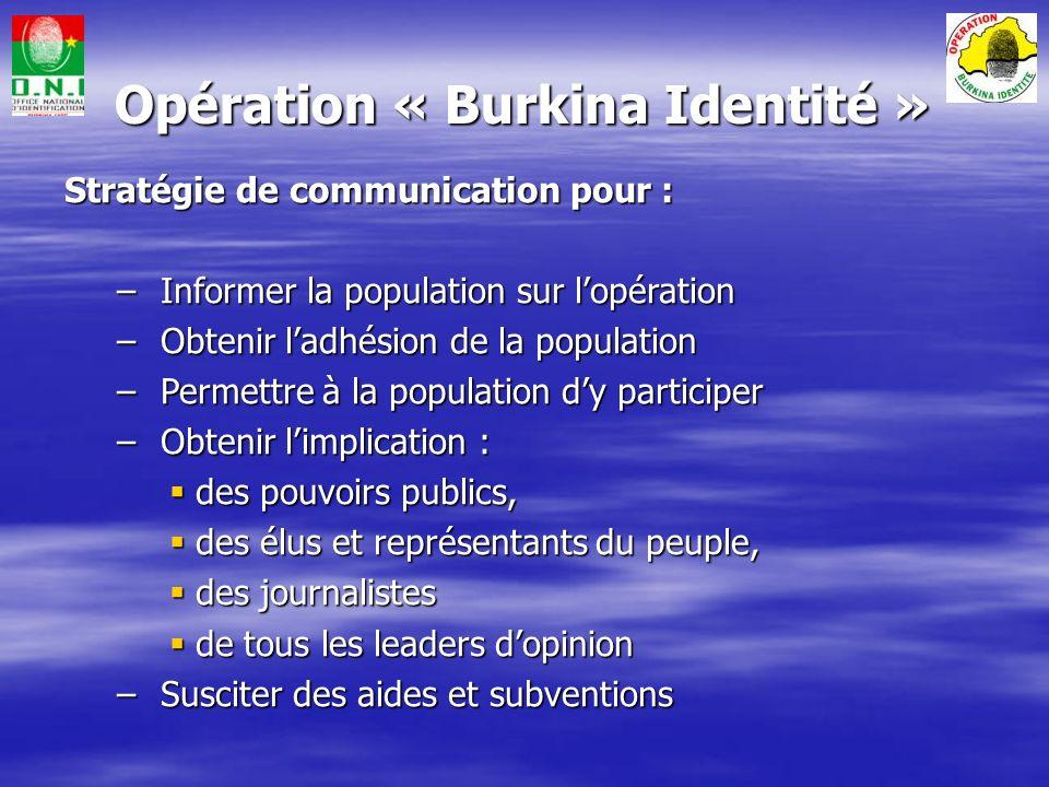 Opération « Burkina Identité »