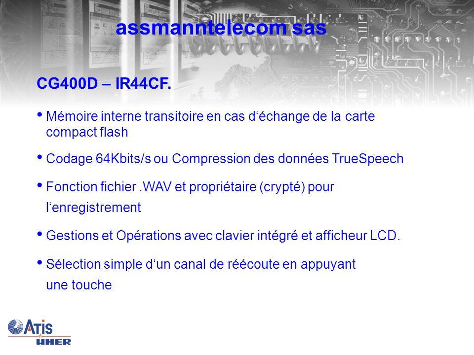 assmanntelecom sas CG400D – IR44CF.