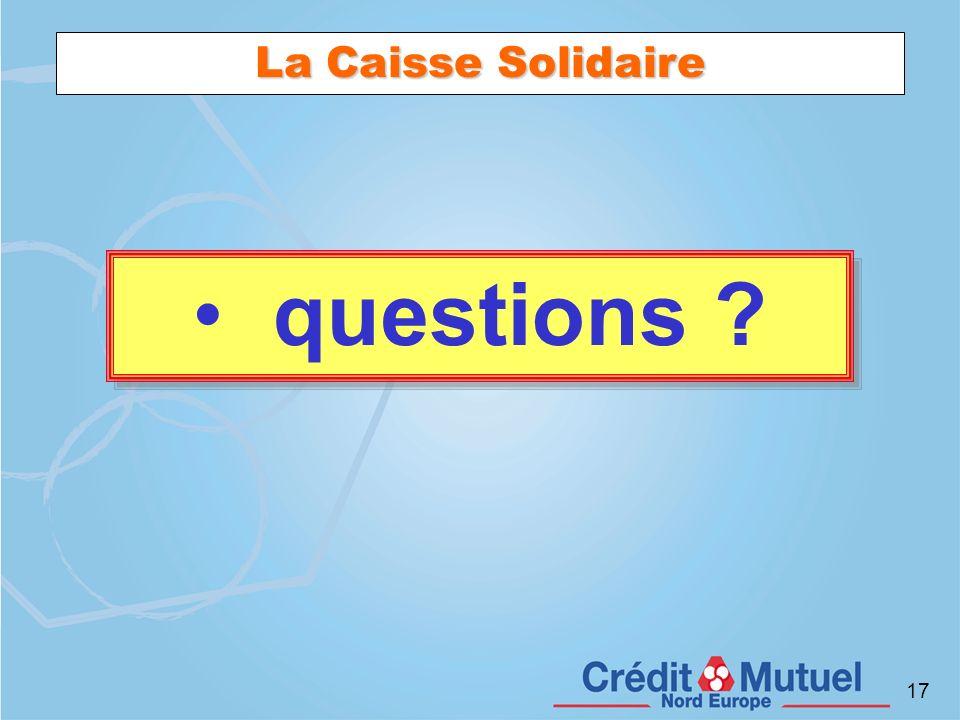 La Caisse Solidaire questions