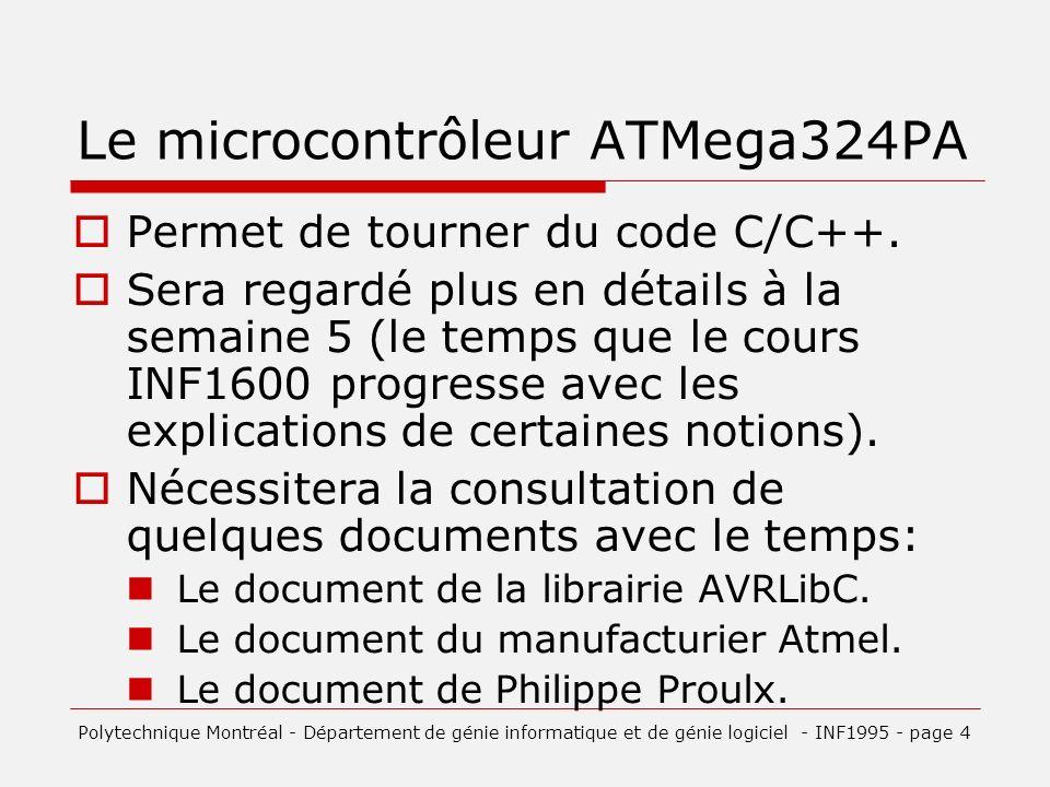 Le microcontrôleur ATMega324PA