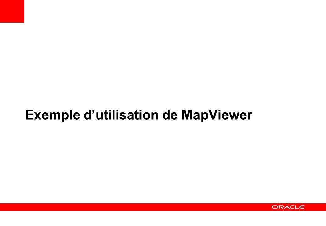 Exemple d'utilisation de MapViewer