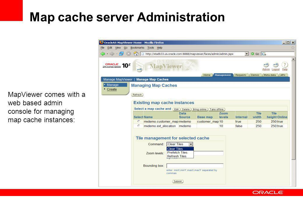 Map cache server Administration
