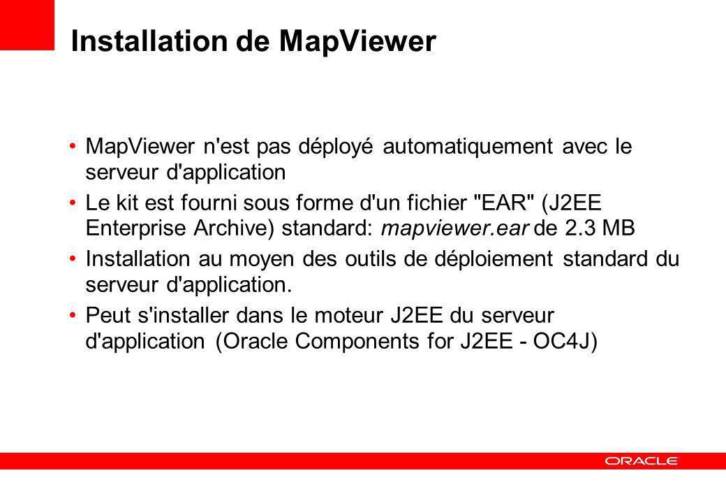 Installation de MapViewer