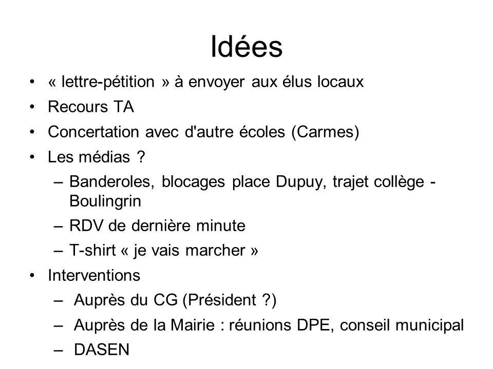 Idées « lettre-pétition » à envoyer aux élus locaux Recours TA