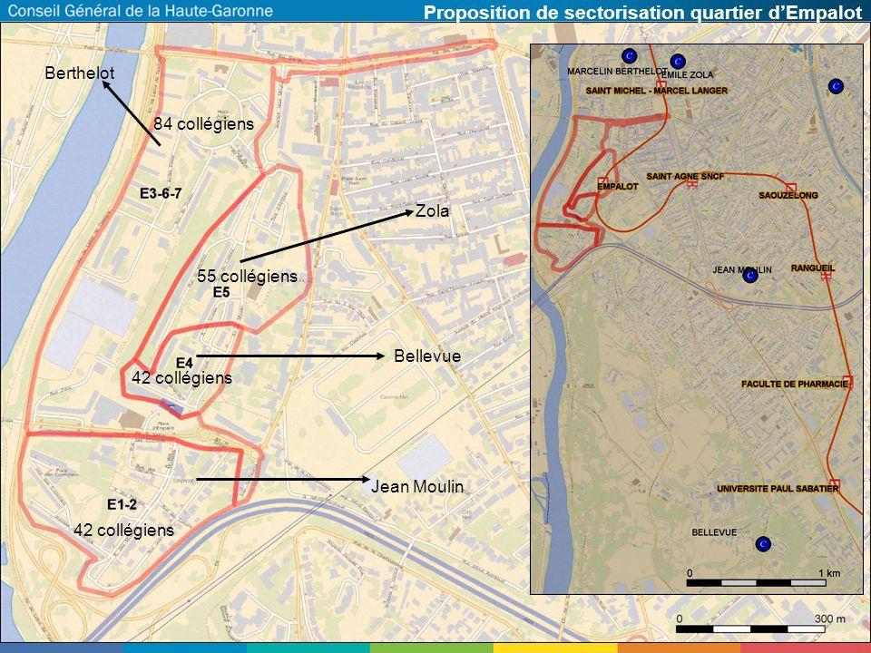 Proposition de sectorisation quartier d'Empalot