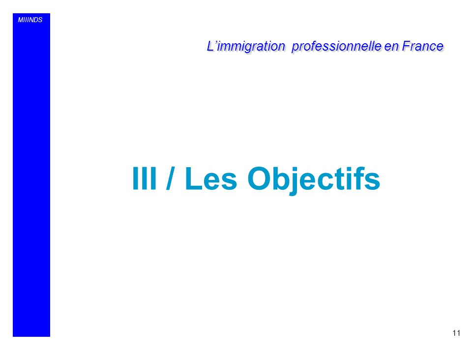 L'immigration professionnelle en France