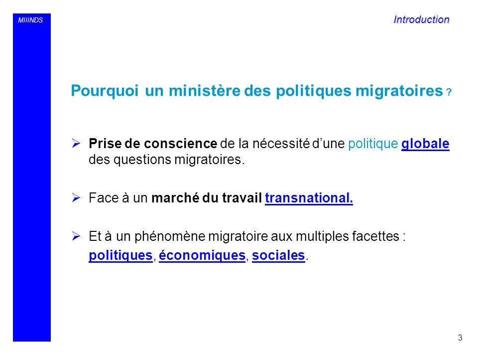 Pourquoi un ministère des politiques migratoires