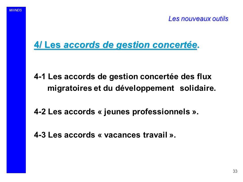 4/ Les accords de gestion concertée.