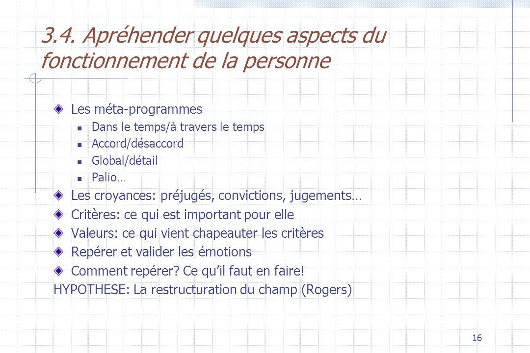 3.4. Apréhender quelques aspects du fonctionnement de la personne
