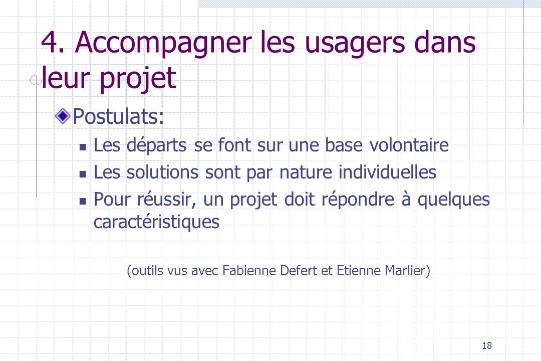 4. Accompagner les usagers dans leur projet