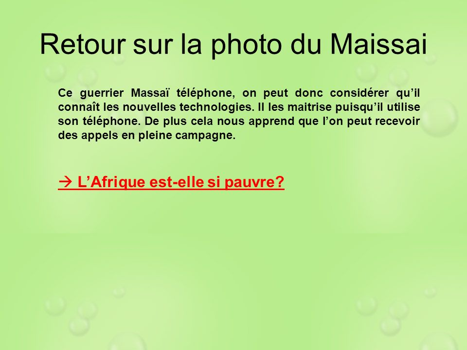 Retour sur la photo du Maissai