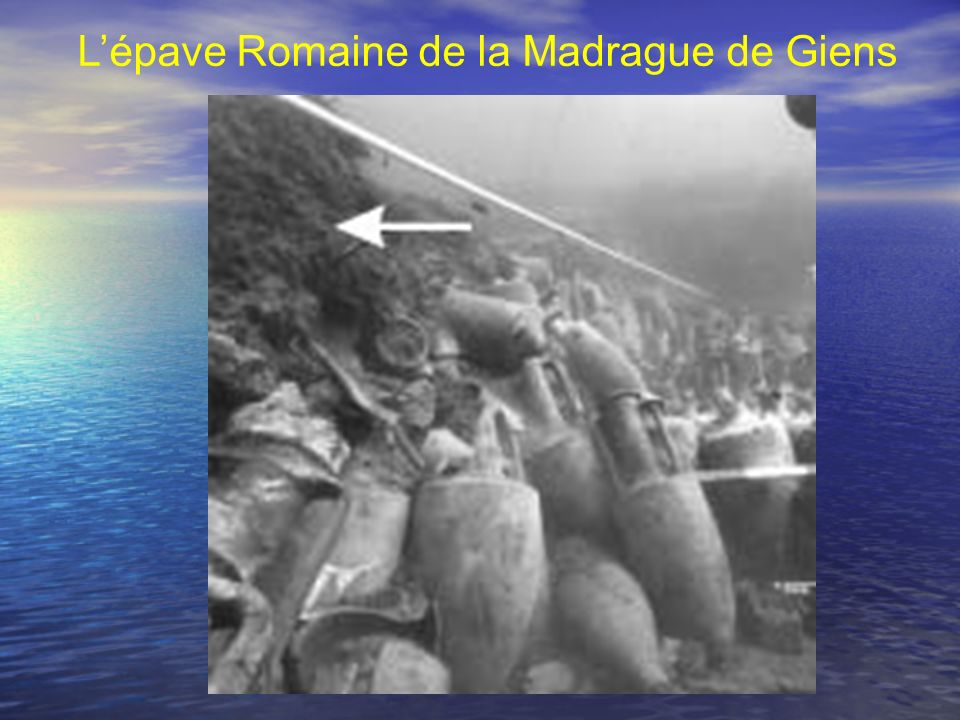 L'épave Romaine de la Madrague de Giens