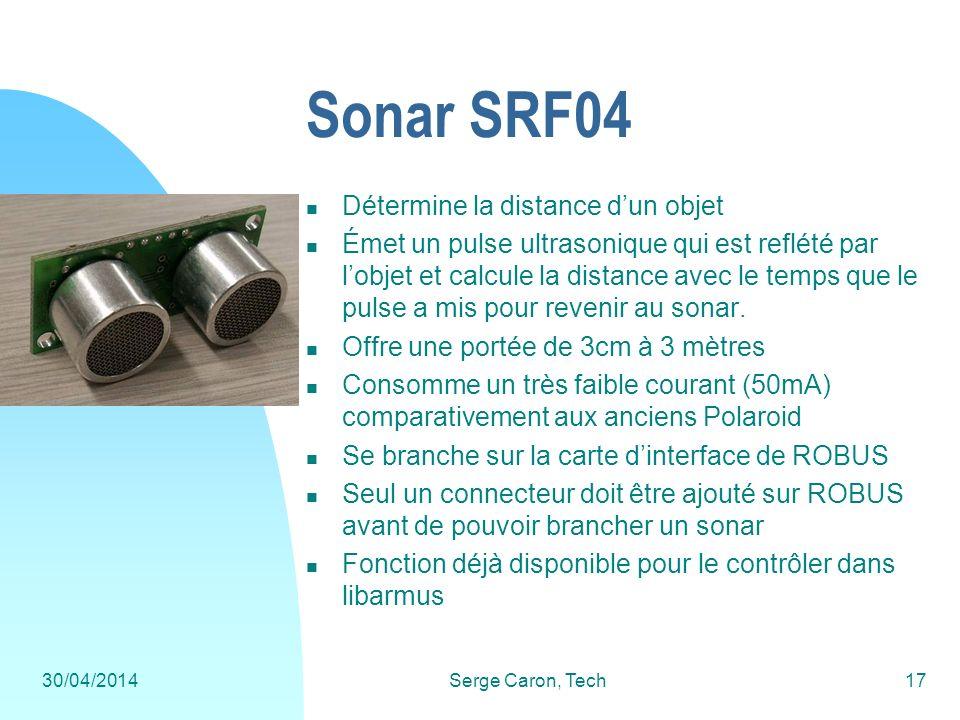 Sonar SRF04 Détermine la distance d'un objet