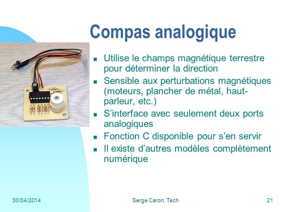 Compas analogique Utilise le champs magnétique terrestre pour déterminer la direction.