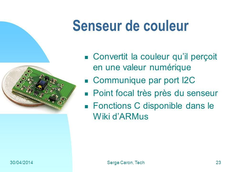 Senseur de couleur Convertit la couleur qu'il perçoit en une valeur numérique. Communique par port I2C.