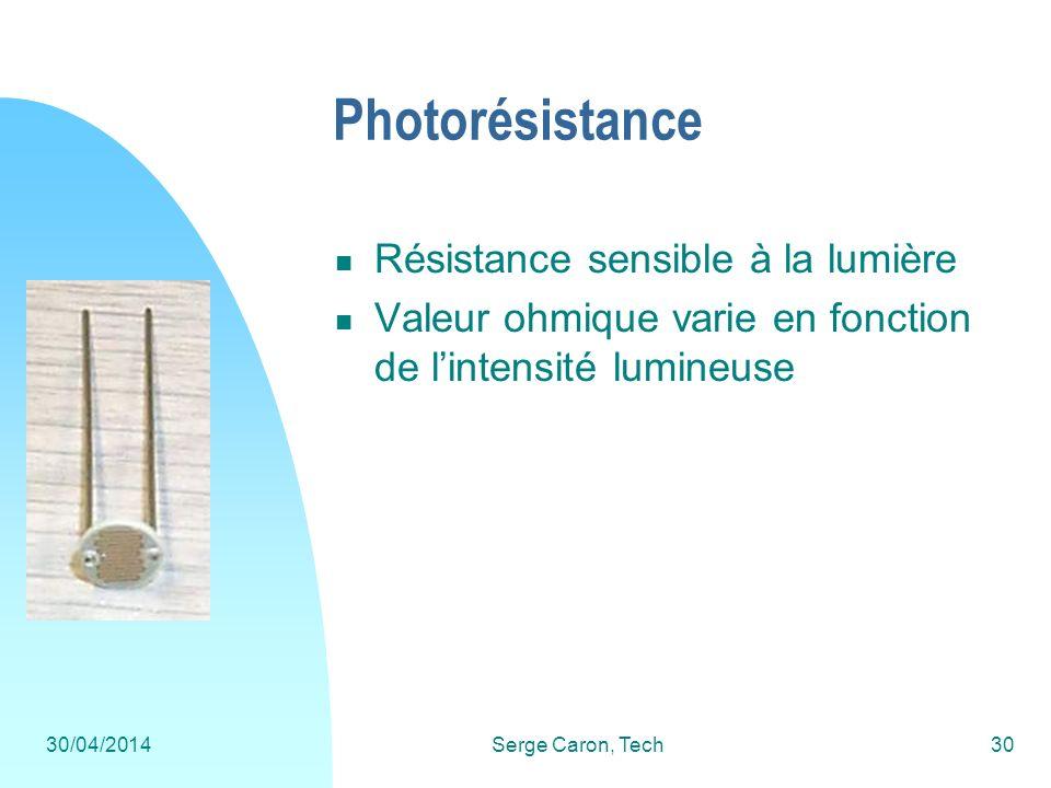 Photorésistance Résistance sensible à la lumière