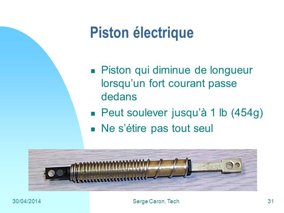 Piston électrique Piston qui diminue de longueur lorsqu'un fort courant passe dedans. Peut soulever jusqu'à 1 lb (454g)