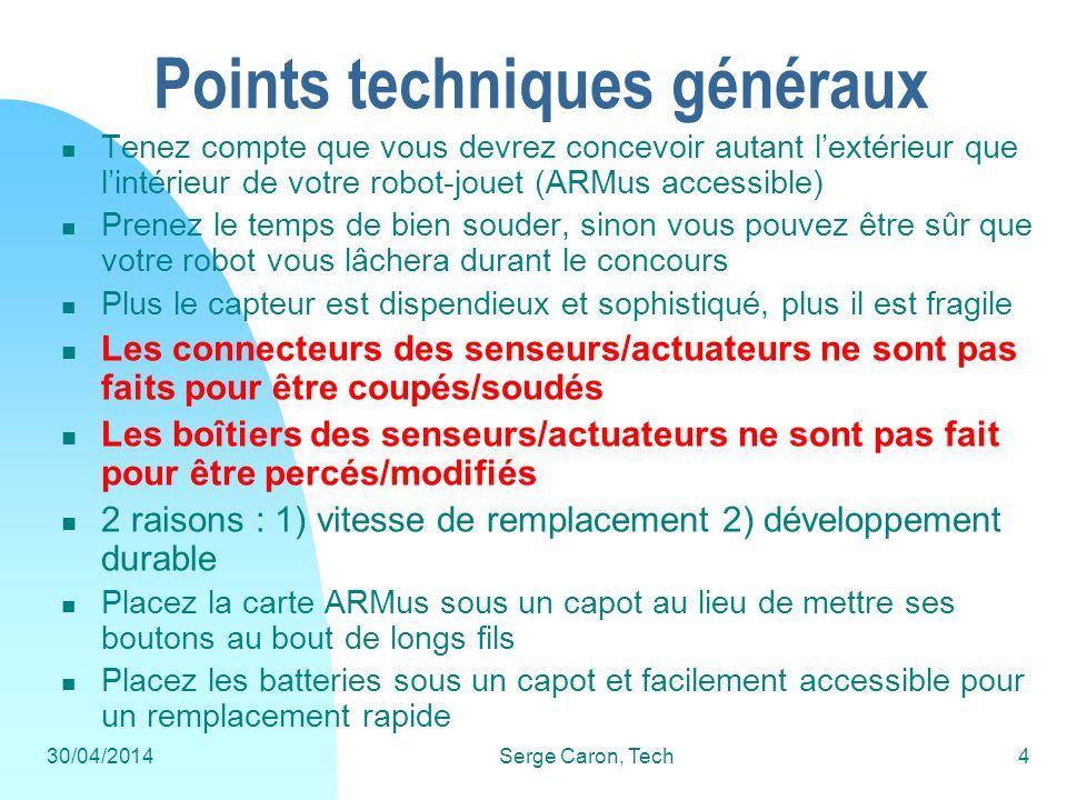 Points techniques généraux