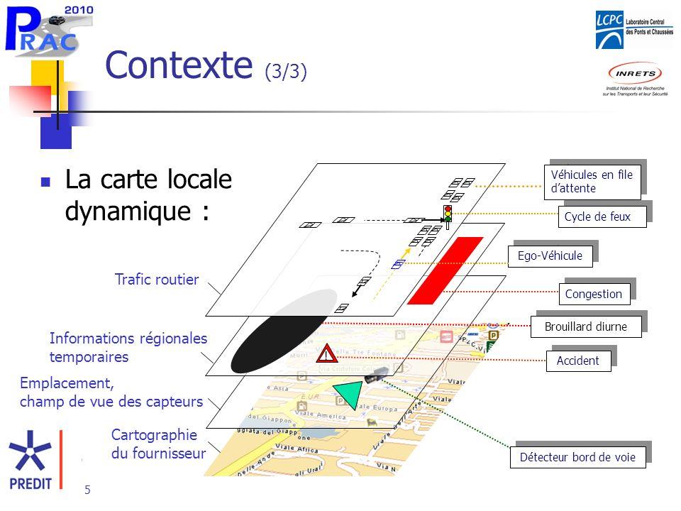 Contexte (3/3) La carte locale dynamique : Trafic routier