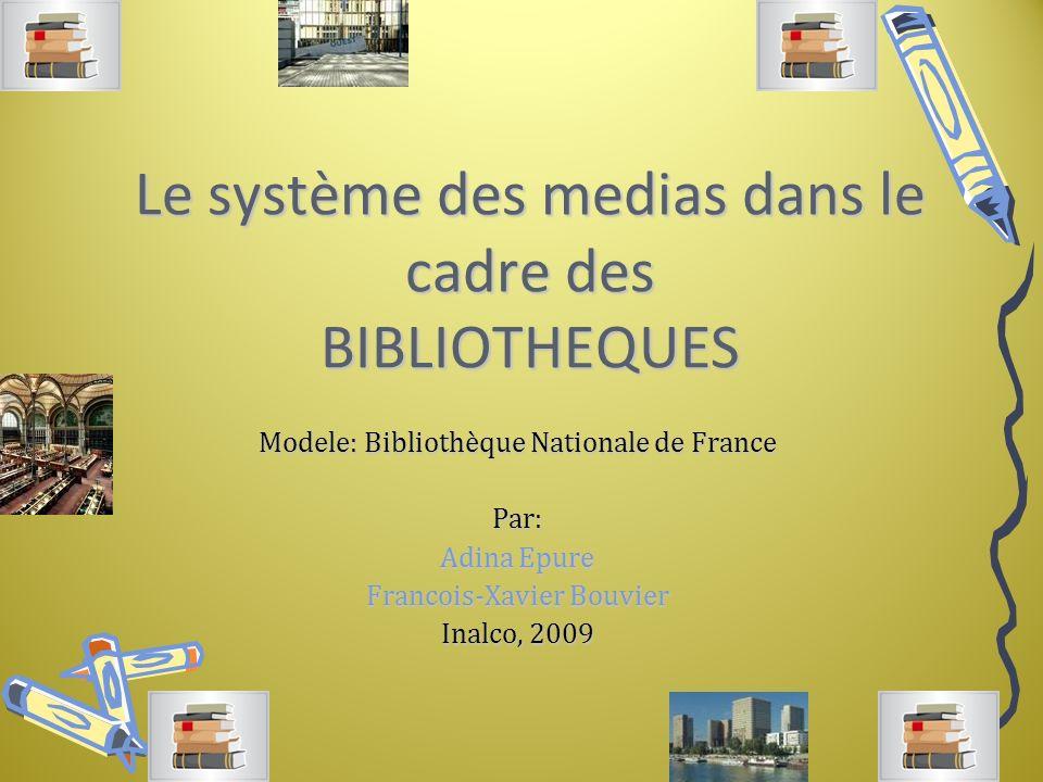 Le système des medias dans le cadre des BIBLIOTHEQUES