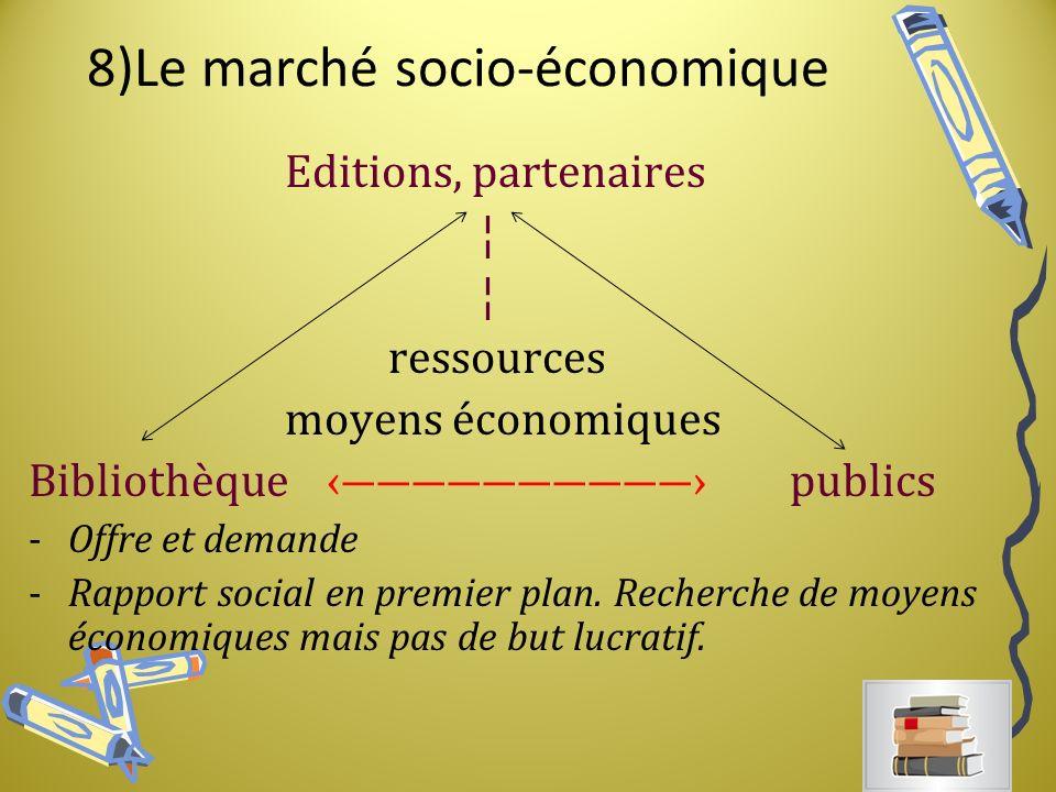 8)Le marché socio-économique