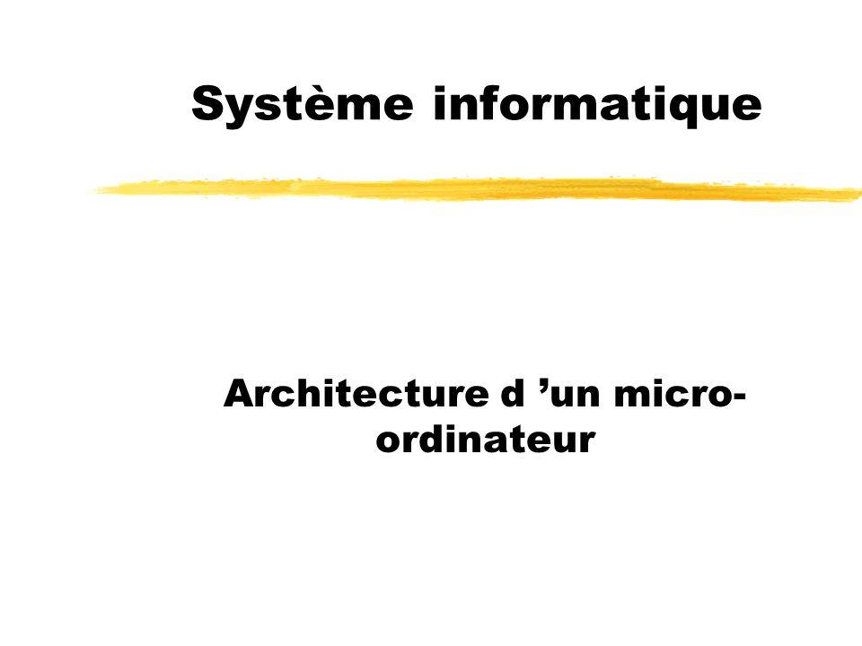 Architecture d 'un micro-ordinateur