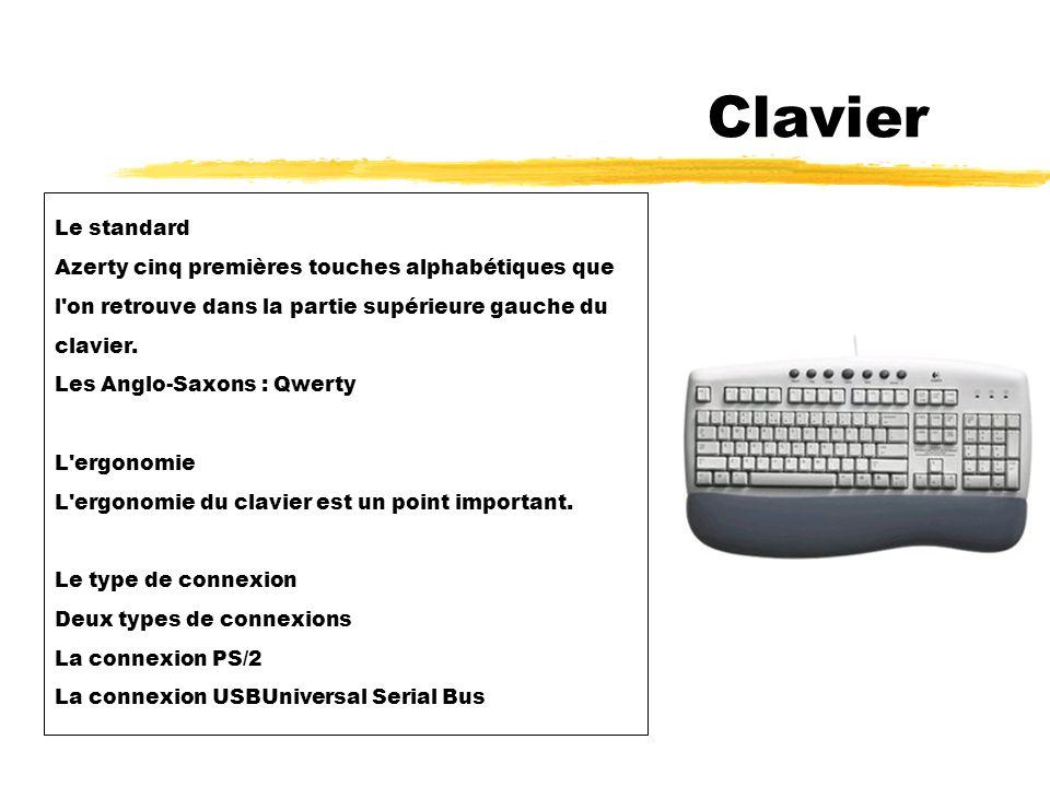 Clavier Le standard Azerty cinq premières touches alphabétiques que