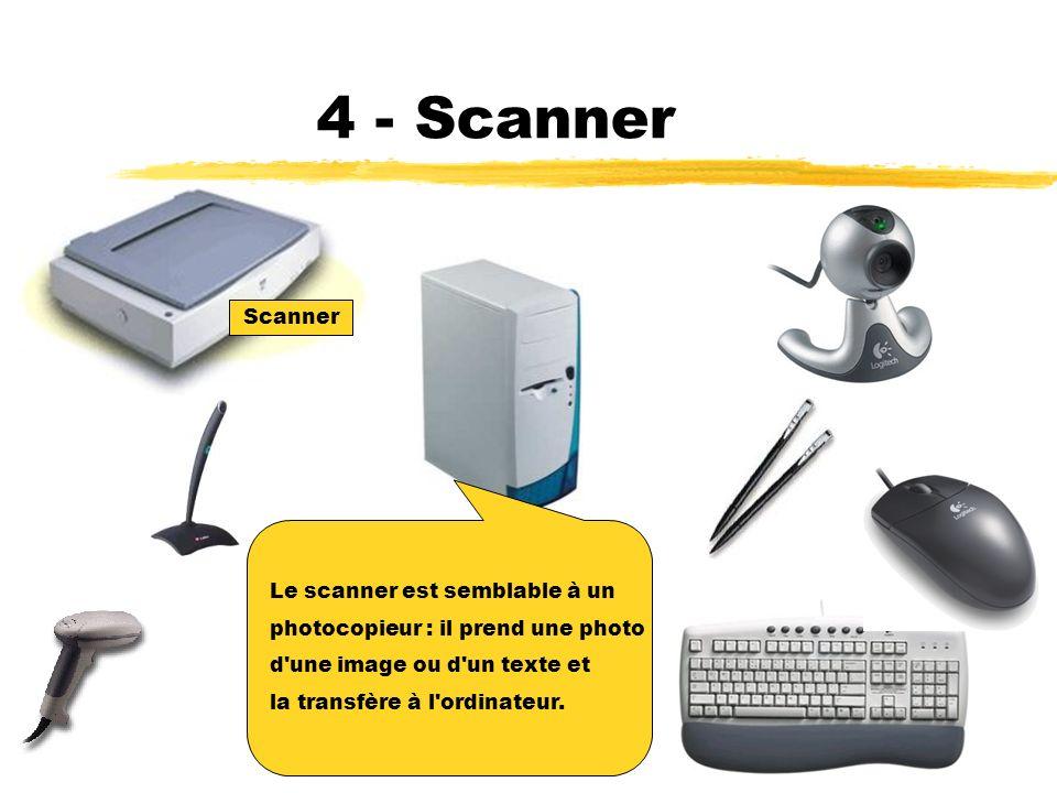 4 - Scanner Scanner Le scanner est semblable à un