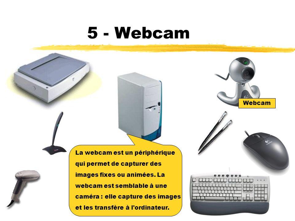 5 - Webcam Webcam La webcam est un périphérique