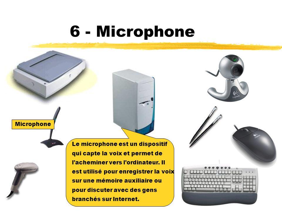 6 - Microphone Microphone Le microphone est un dispositif