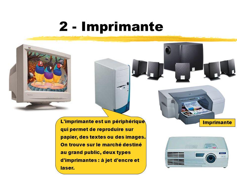 2 - Imprimante L imprimante est un périphérique Imprimante