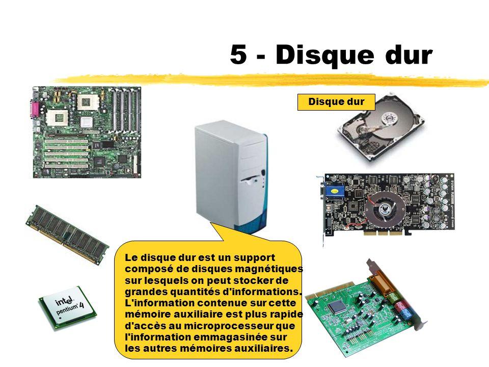 5 - Disque dur Disque dur Le disque dur est un support