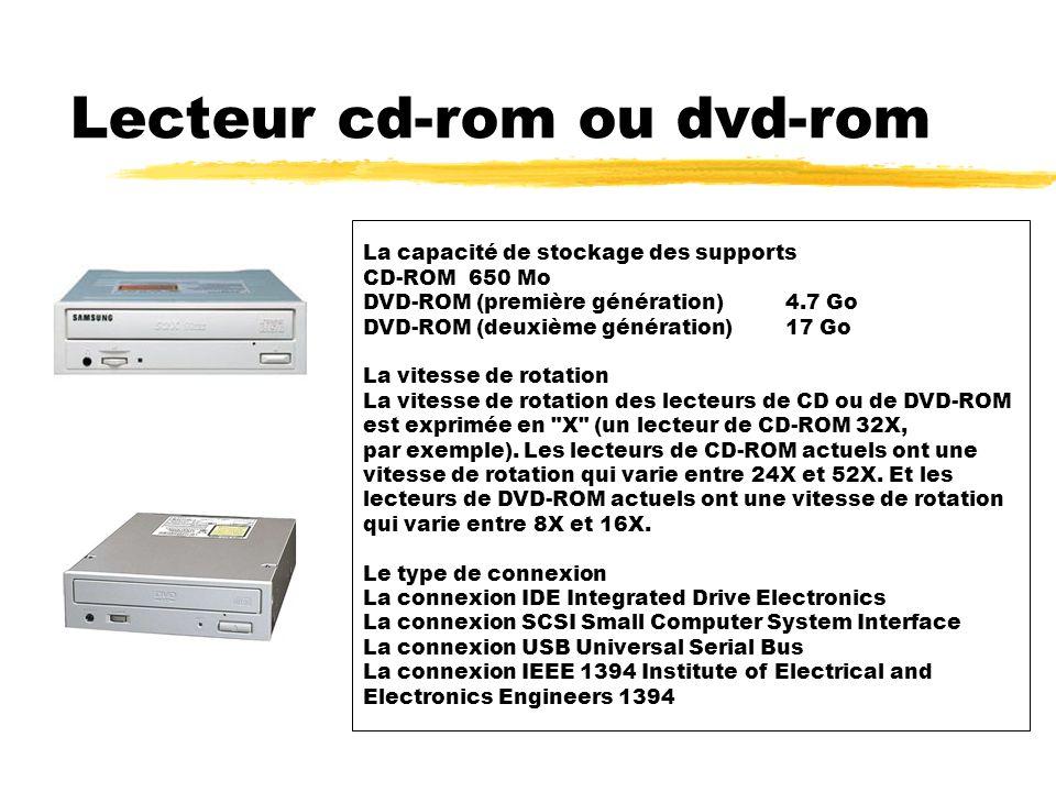 Lecteur cd-rom ou dvd-rom