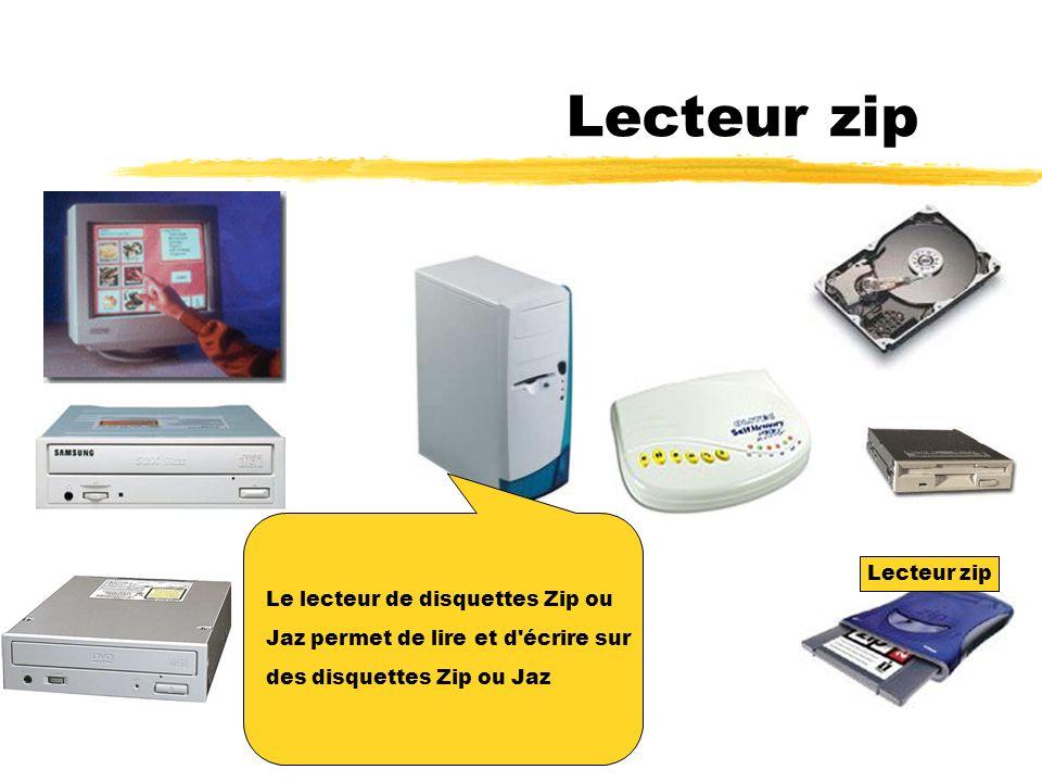 Lecteur zip Le lecteur de disquettes Zip ou Lecteur zip