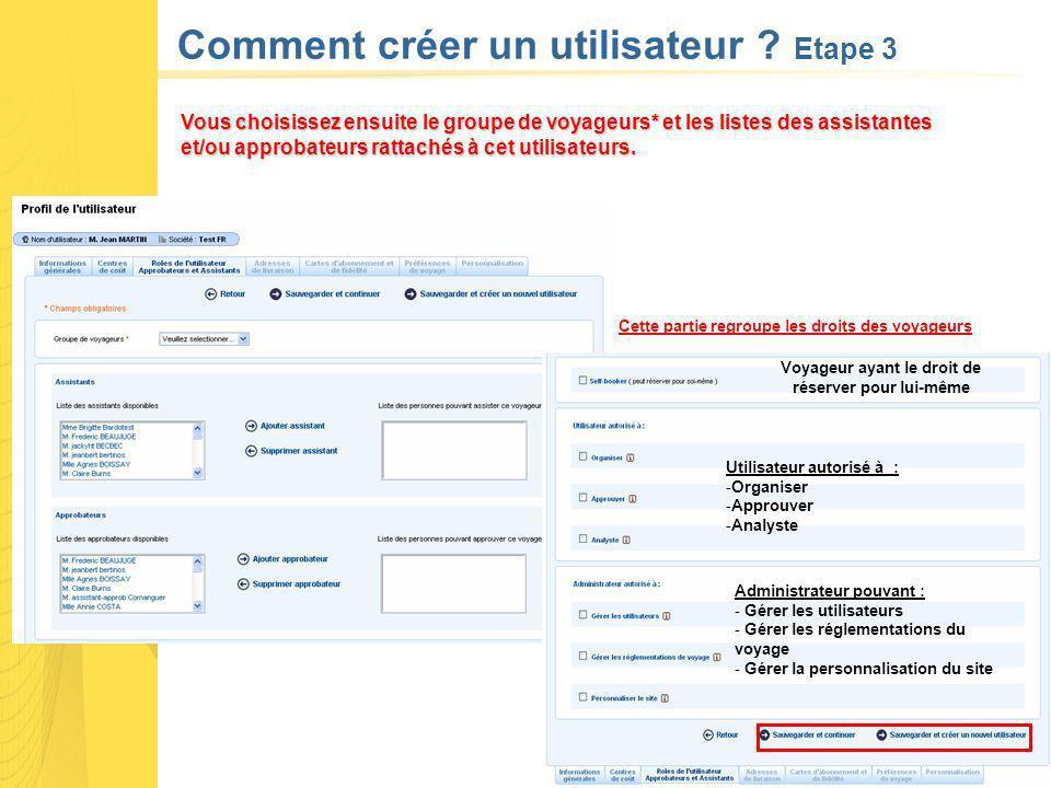 Comment créer un utilisateur Etape 3