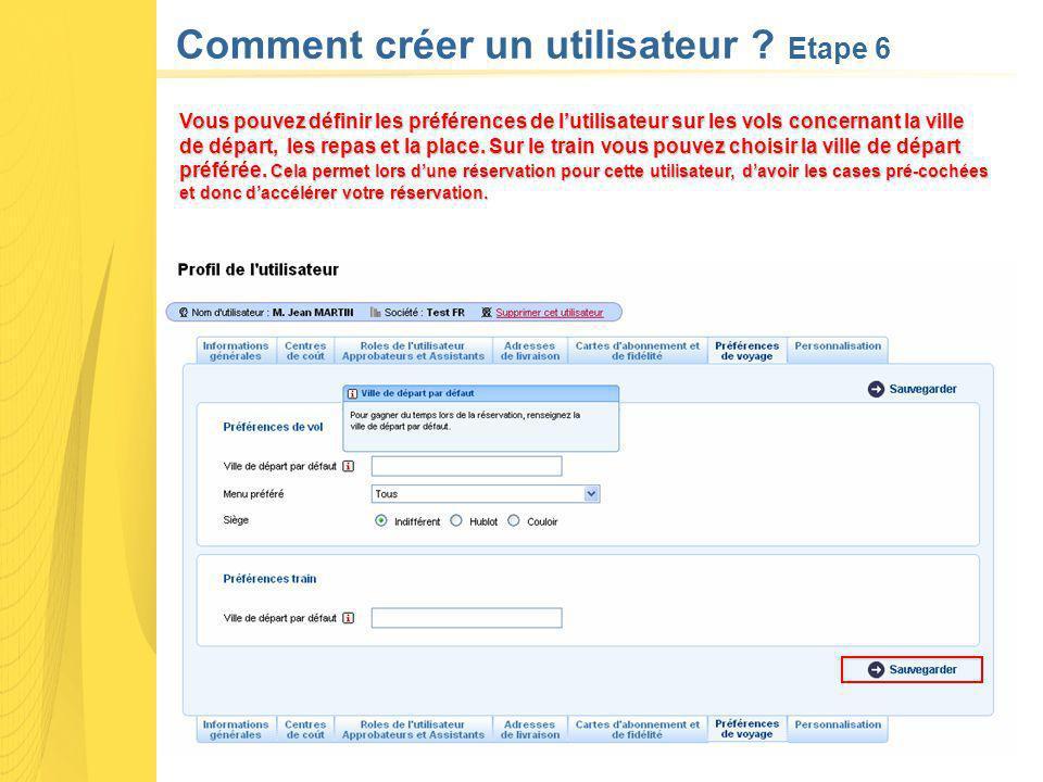 Comment créer un utilisateur Etape 6