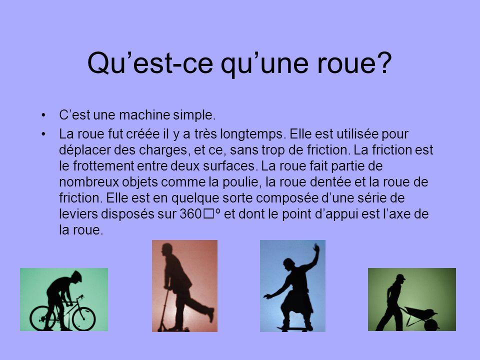 Qu'est-ce qu'une roue C'est une machine simple.