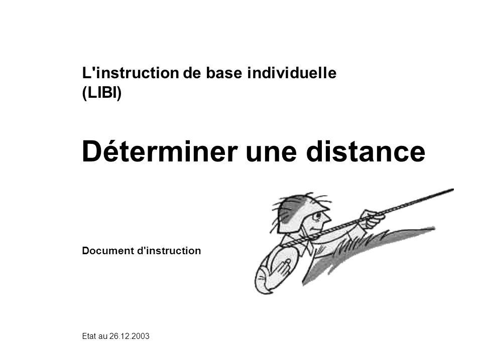 Déterminer une distance